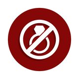 Stop or ban marriage, prohibited sign icon in badge style. One of Decline collection icon can be used for UI, UX royalty free illustration