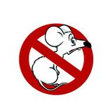 Stop ban rat Royalty Free Stock Images