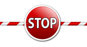 stop barrier sign  Royalty Free Stock Photo
