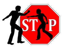 Stop Beating Women. Concept sign for ending any kind of violence against women Stock Image