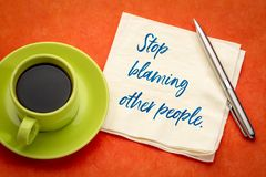 Stop blaming other people royalty free stock image