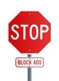 Stop - Block Ads Stock Image