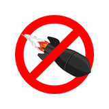 Stop bombing. Bomb is forbidden. Ban air torpedo.  Royalty Free Stock Image
