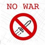 Stop bombing no war sign. Vector illustrationn Stock Images