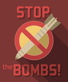 Stop bombs symbol Stock Photography