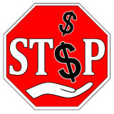 Stop Bribes. Concept sign to fight against bribery and corruption Royalty Free Stock Image