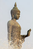 Stop. Buddha statue at the temple in Thailand stock photos