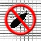 Stop bugs. Illustration of the stop bugs net Stock Photos