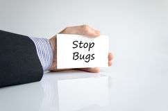 Stop bugs text concept Stock Images