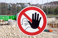 Stop,building site Royalty Free Stock Photography