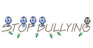 Stop bullying. Twig text isolated on white background Royalty Free Stock Photo