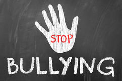 Stop Bullying. Concept on blackboard Stock Image