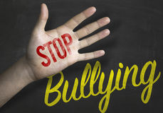 Stop Bullying educacional message on blackboard Stock Images