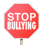 Stop Bullying Mean Kids Picking On Fighting Children School Stock Photography