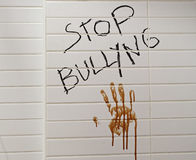 Stop bullying message Royalty Free Stock Image