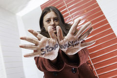 Stop bullying message Royalty Free Stock Photography