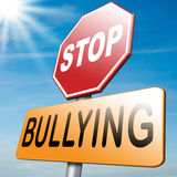 Stop bullying. School bully prevention Royalty Free Stock Images