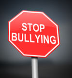 Stop bullying sign. Stock Image