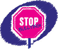 Stop bullying stop sign Royalty Free Stock Images