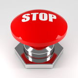 Stop button Royalty Free Stock Photo