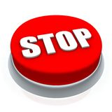 Stop button. Stop round button 3d. Isolated on white Stock Photo