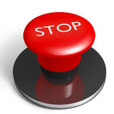 Stop button. 3d creation of a red stop button Royalty Free Stock Photos