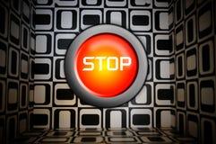 Stop button Royalty Free Stock Photos