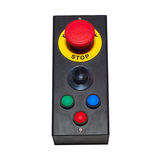 Stop button. Red button is a stop Royalty Free Stock Photo