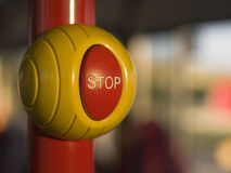 Stop button. On the bus Royalty Free Stock Photo