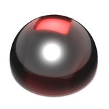 Stop button. Stop player control. Black glass and red glowing plastic look Stock Image