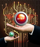 Stop button concept Royalty Free Stock Image