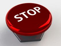 Stop button 3d Royalty Free Stock Images