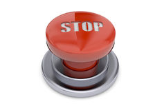 Stop Button - 3D Stock Image