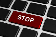 Stop button on keyboard Stock Photo