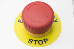 Stop button Stock Image