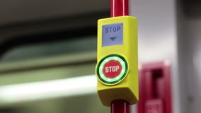 Stop button in the Underground stock footage
