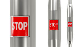 Stop button urban bus Stock Image