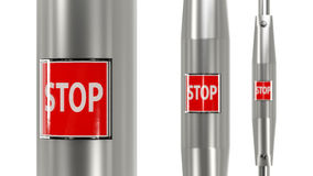 Stop button urban bus Stock Photography