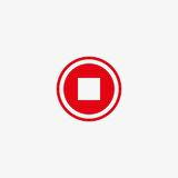 Stop button vector icon Royalty Free Stock Images