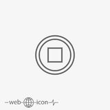 Stop button vector icon Royalty Free Stock Image