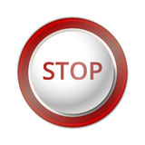 Stop Button. Stock Photography