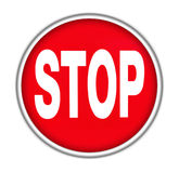 Stop button Stock Photo