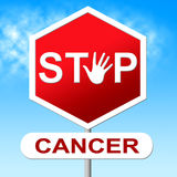 Stop Cancer Shows Cancerous Growth And Control Royalty Free Stock Photography