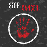 Stop cancer sign Stock Photo