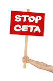 Stop CETA Stock Photography