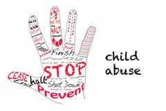 Stop child abuse illustration Royalty Free Stock Image