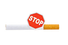 The  Stop  on the cigarette. Excessive smoking is harmful to your health Stock Photo