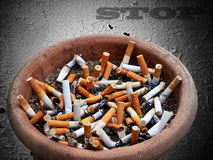 Stop Cigarette addiction Stock Image