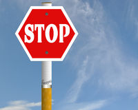 Stop cigarette road sign Royalty Free Stock Photos