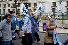 Stop Climate Chaos Demonstration London Royalty Free Stock Images